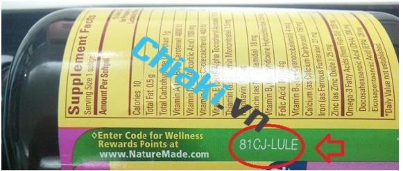 Cách tìm mã code dầu cá omega 3 Fish oil 1200mg