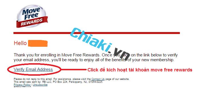 Click vào nút Verify Email Address để kích hoạt tài khoản kiểm tra Move Free thật_chiaki.vn