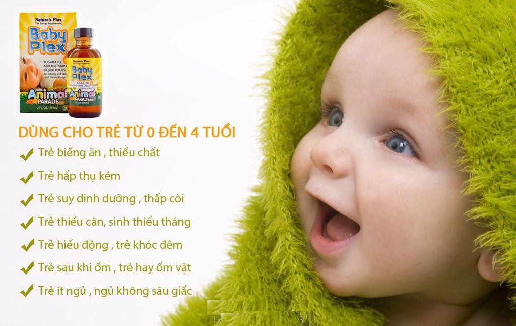 Vitamin Baby Plex giúp bé phát triển toàn diện