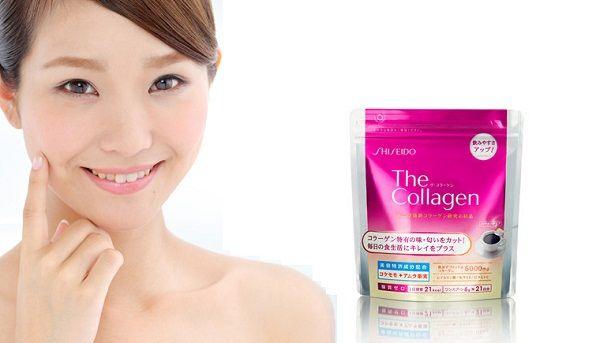 The Collagen Shiseido dạng bột cho làn da trắng hồng mịn màng