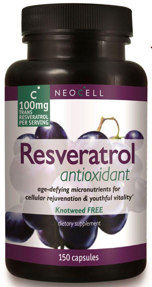 Viên uống Neocell's Resveratrol Antioxidant tăng cường hỗ trợ sức khỏe tim mạch