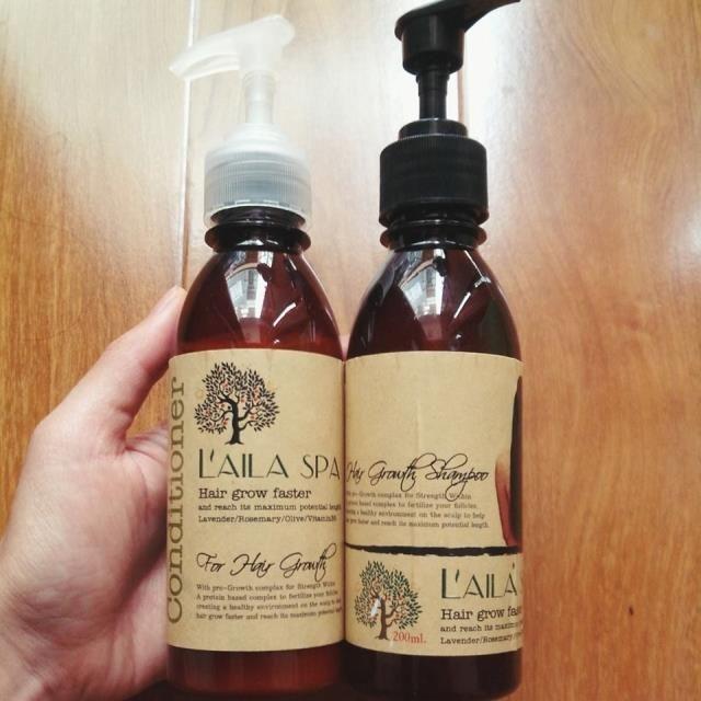 Sử dụng kết hợp bộ dầu gội, xả Laila Spa để có hiệu quả cao