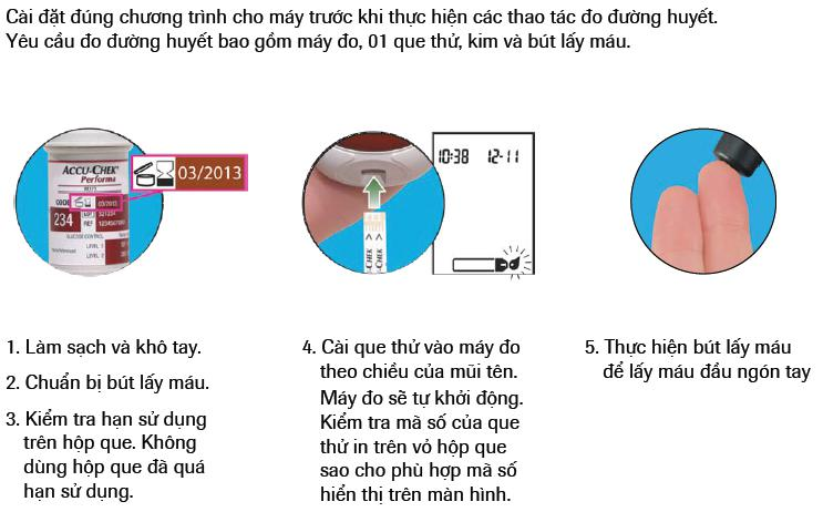 Hướng dẫn sử dụng máy đo đường huyết Accu Chek