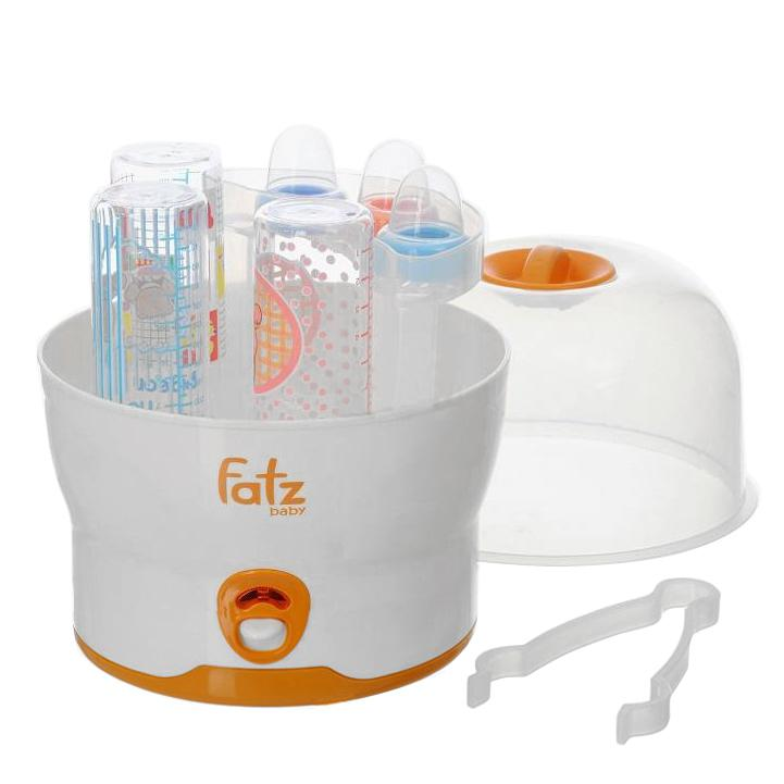 Máy tiệt trùng bình sữa Fatz có thể chứa tơi 6 bình sữa cùng lúc
