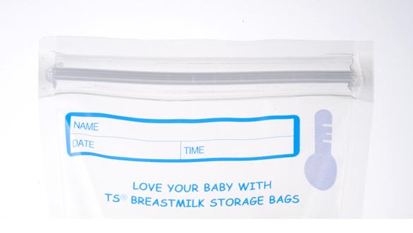 Túi trữ sữa Unimom cảm ứng nhiệt có thiết kế khóa zipper chắc chắn