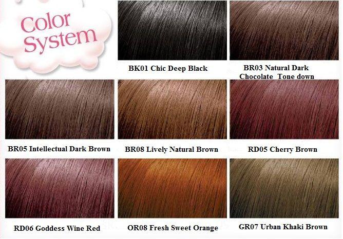 Bảng màu Dầu gội nhuộm tóc Etude cho các bạn thoải mái lựa chọn