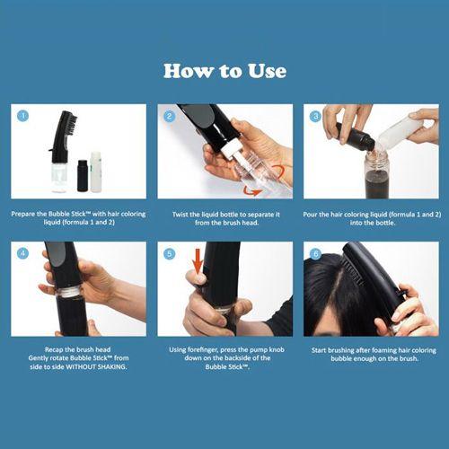 Lược nhuộm tóc Hàn Quốc Bubble Stick đơn giản, dễ sử dụng