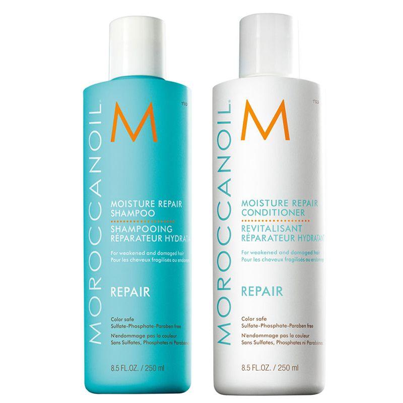Combo dầu gội, xả Moroccanoil tăng phồng tóc, phục hồi hư tổn