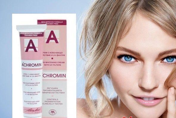 Kem đặc trị nám Achromin giúp loại bỏ nhanh chóng và hiệu quả các đốm tàn nhang, đồi mồi do sắc tố da, cho làn da trắng sáng