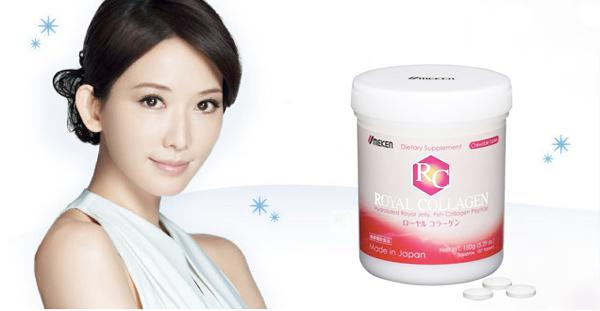 Royal Collagen giúp làm mềm da, giúp da căng mịn, săn chắc, ngừa lão hóa