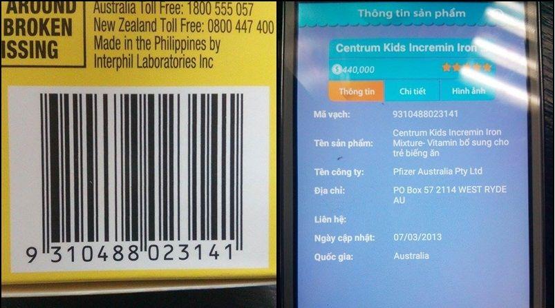 Cách phân biệt sản phẩm Siro Centrum Kids incremin iron mixture chính hãng