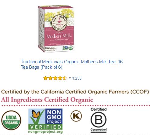 Trà lợi sữa Organic Mother's Milk được tin dùng ở Châu Âu
