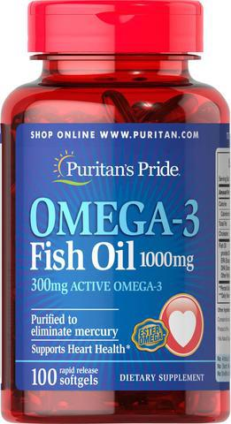 Dầu cá Puritan's Pride Omega 3 Fish Oil 1000mg