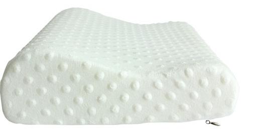 Cấu tạo gối Memory Pillow  hình gợn sóng giúp nâng đỡ tốt đầu và cổ, giúp đầu và cổ thẳng với cột sống