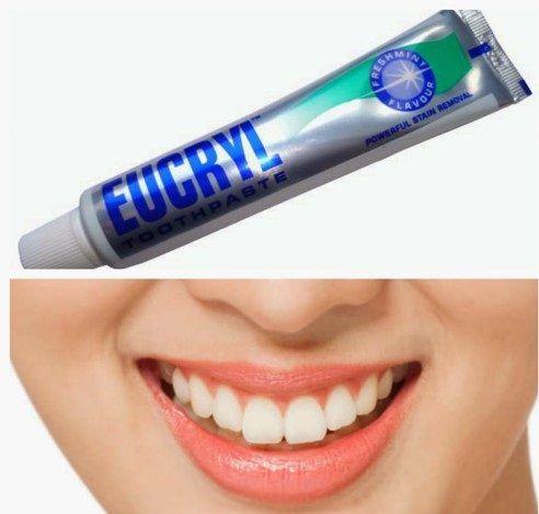 Kem đánh răng Eucryl làm trắng, làm sạch các vết ố, vết bẩn lâu năm trên răng