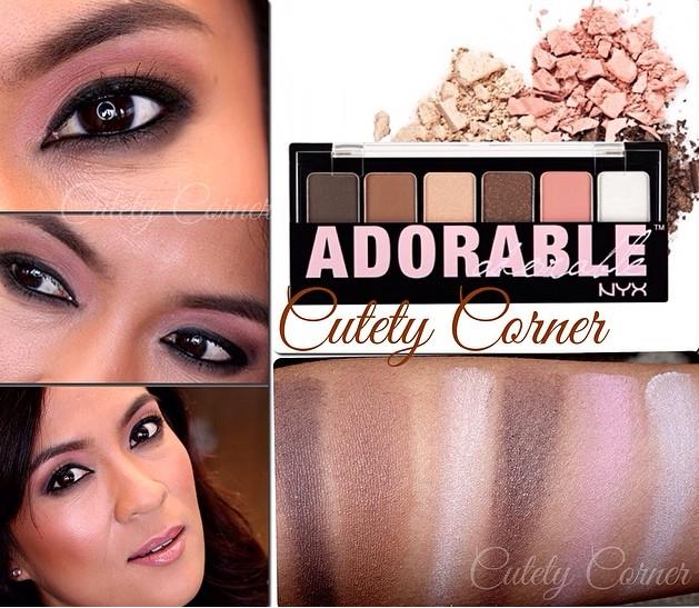 Phấn mắt Nyx Adorable phù hợp với tất cả các tông màu da, bạn có thể phối thành nhiều màu để có đôi mắt nổi bật, hút hồn