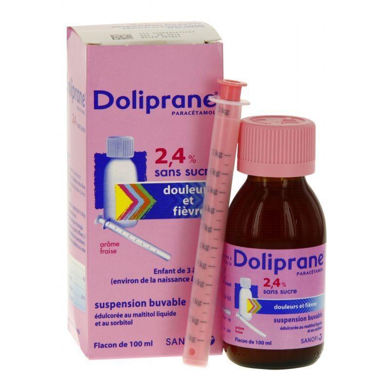 Siro hạ sốt Doliprane 2.4% hạ sốt cho bé nhanh chóng, an toàn