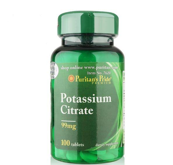 Viên bổ sung Kali Puritan's Pride Potassium Citrate 100 viên
