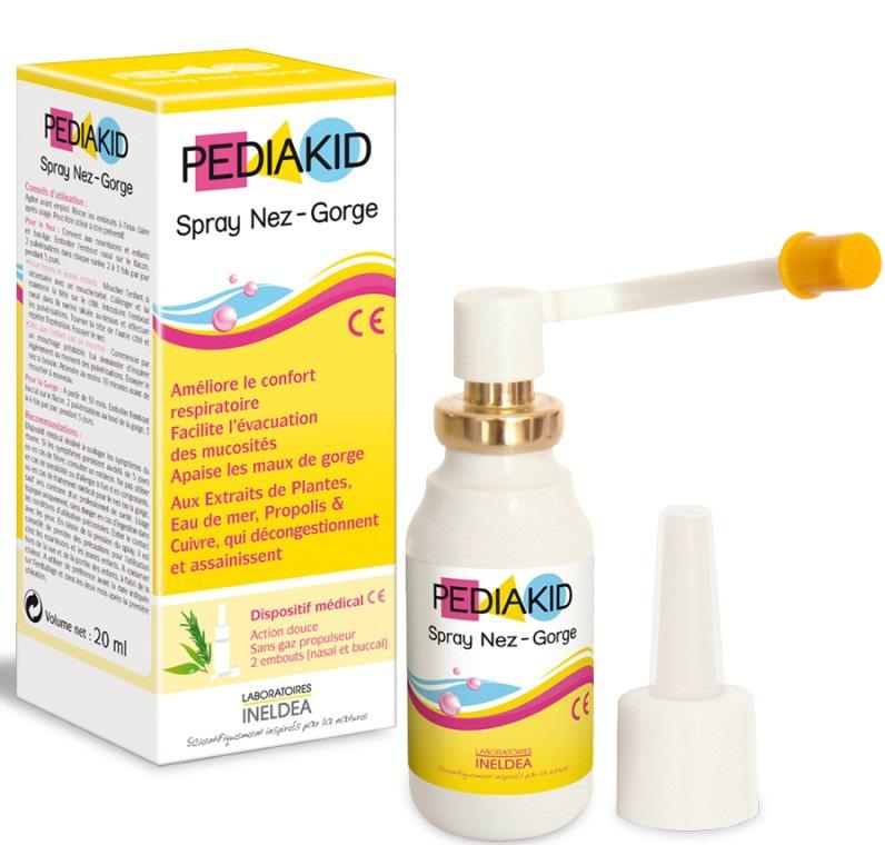 Xịt mũi họng Pediakid Spray Nez-Gorge 20ml 2