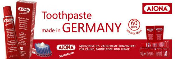 Kem đánh răng Ajona là một sản phẩm kem đánh răng y tế dạng cô đặc dùng để chăm sóc răng miệng hàng ngày