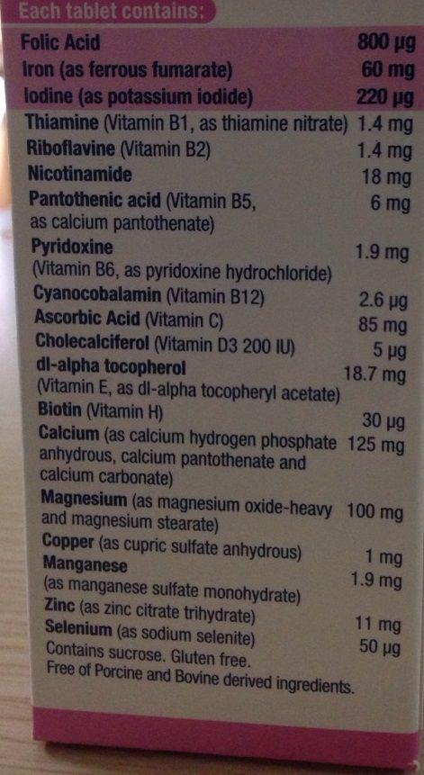 Elevit chứa 11 vitamin quan trọng và 7 khoáng chất thiết yếu