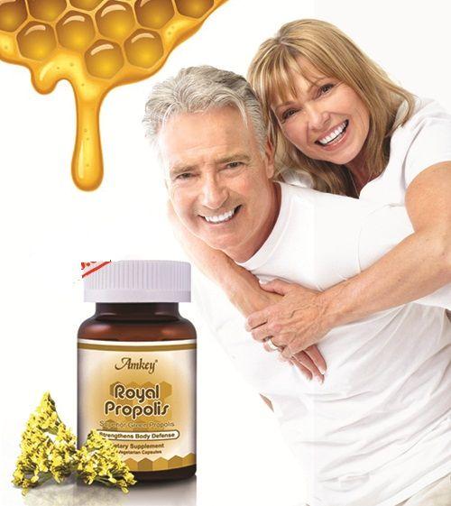 Keo ong Royal Propolis Amkey chiết xuất bởi mật ong xanh có nhiều công dụng tốt cho sức khỏe