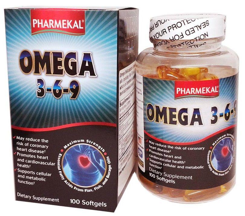 Viên uống dầu cá Pharmekal Omega 3-6-9 100 viên