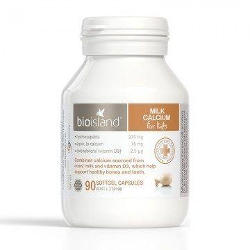 Sữa bổ sung canxi Bio Island cho bé phát triển chiều cao, khỏe mạnh