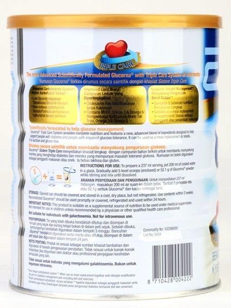 Thành phần sữa cho người tiểu đường