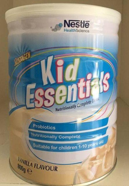 Sữa Kid Essentials Nestle Úc cho bé lười ăn, chậm phát triển