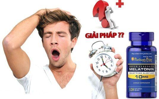 Viên uống Melatonin 10mg Puritan's Pride cải thiện tình trạng mất ngủ do nhiều nguyên nhân: căng thẳng, mệt mỏi