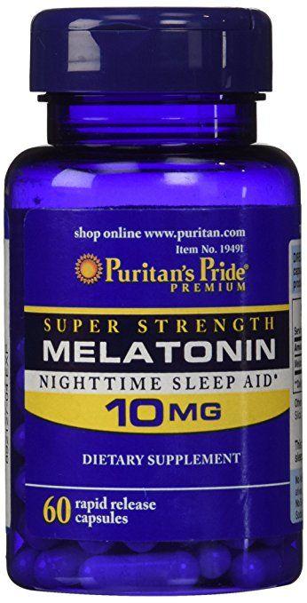 Viên uống trị mất ngủ Melatonin 10mg Puritan's Pride