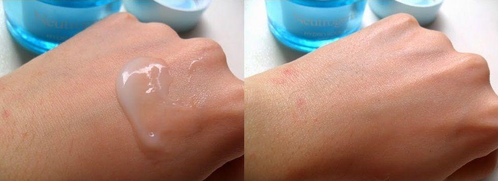 Neutrogena hydro boost gel cream kết cấu dạng lỏng, nhẹ và mát, dễ dàng thẩm thấu nhanh vào da