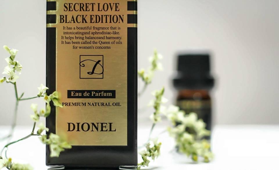 Nước hoa Dionel secret love chiết xuất từ thành phần thiên nhiên vừa làm sạch, vừa mang lại hương thơm dịu nhẹ, quyến rũ