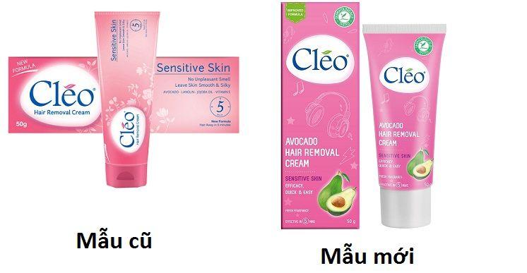 Kem tẩy lông Cleo màu hồng dành cho da nhạy cảm(mẫu mới)