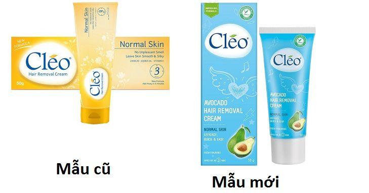 Kem tẩy lông Cleo dành cho da thường (mẫu mới màu xanh)