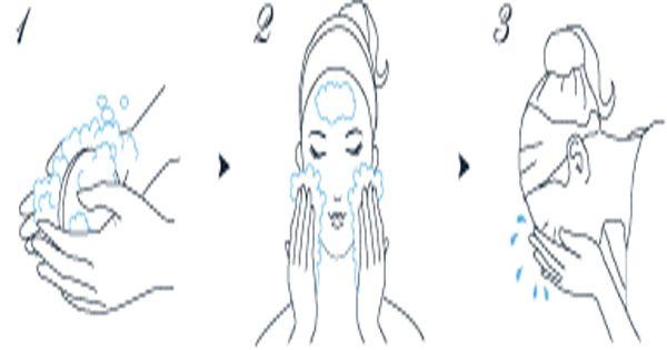 Cách sử dụng xà phòng rửa mặt DHC