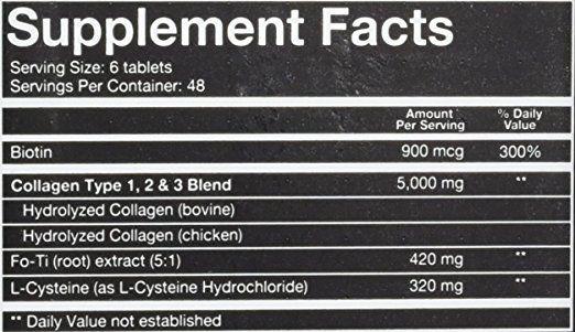 Thành phần viên uống Collagen Youtheory Men's Type 1, 2 & 3