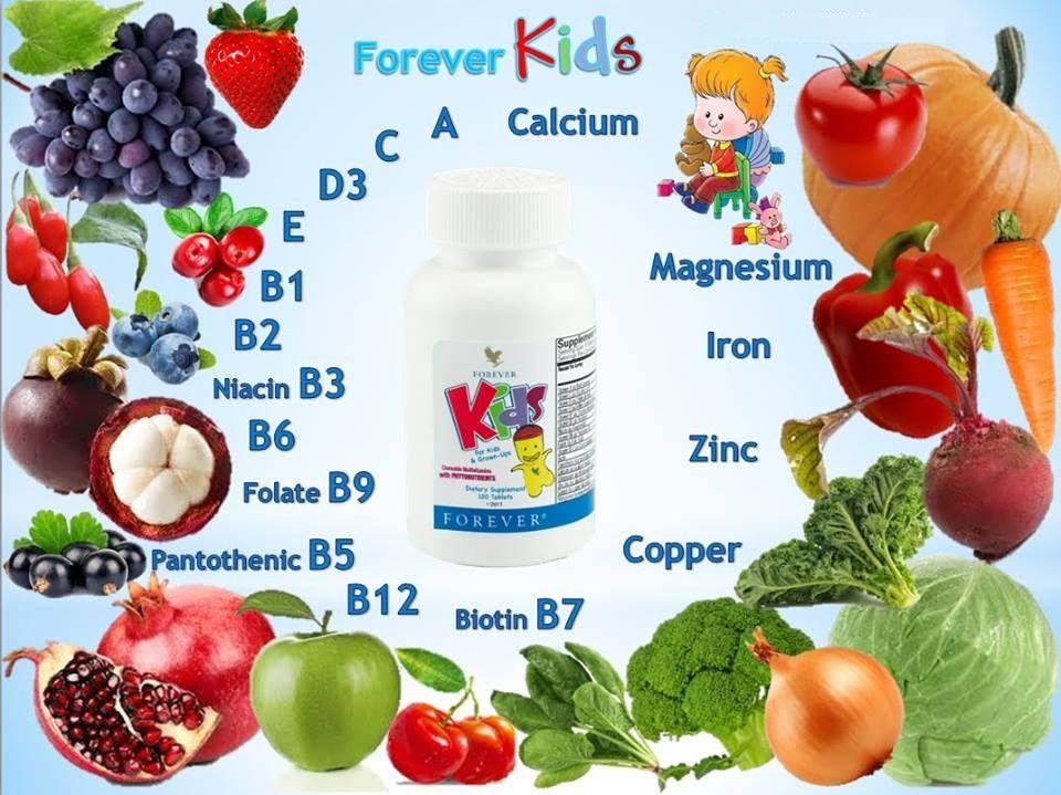 Kẹo Forever Kids được chiết xuất từ rau củ quả và hội tụ đủ 12 loại Vitamin, giúp bồi bổ sức khỏe, nâng cao thể lực, tăng cường sức đề kháng cho bé