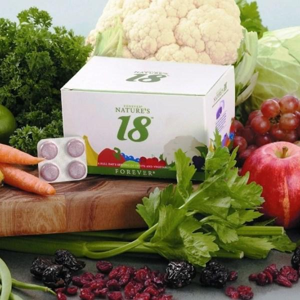 Forever Natures 18 bổ sung 18 loại rau củ quả