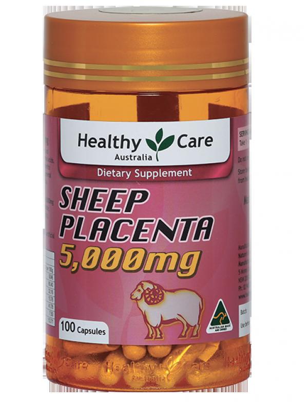 Nhau thai cừu Sheep Placenta Healthy Care 5000mg của Úc