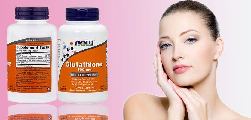 Glutathione Now 500 mg giúp da trắng hồng, mềm mại từ bên trong