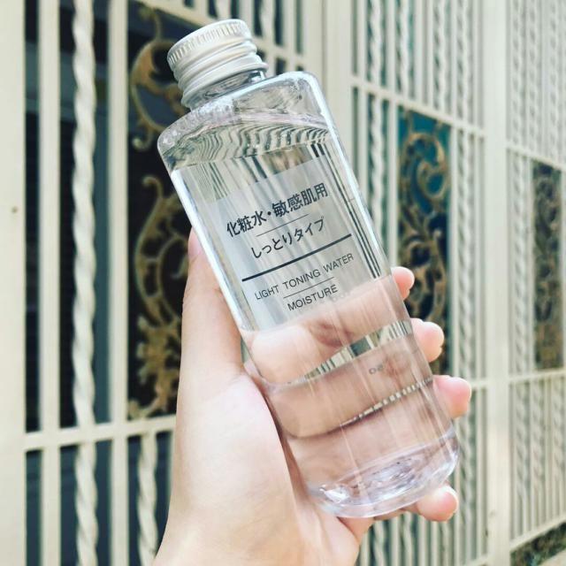 Muji light toning water moisture cho da thường, da hỗn hợp thiên khô tới da khô