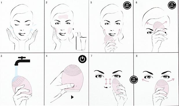 Cách sử dụng Máy rửa mặt Halio