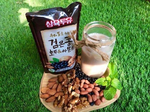 Sữa óc chó Hàn Quốc kết hợp hạnh nhân đậu đen tốt cho sức khỏe