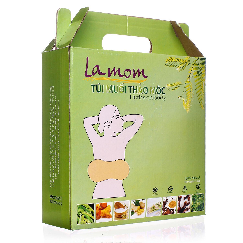 Túi muối thảo mộc Lamom giúp săn chắc bụng sau sinh