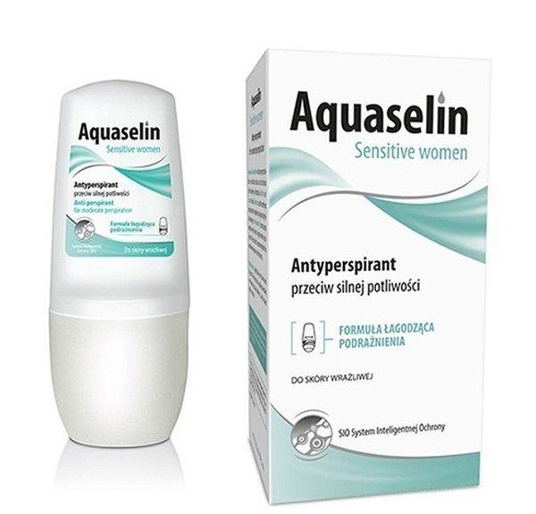 Lăn khử mùi Aquaselin Sensitive Women cho nữ đổ mồ hôi vừa phải
