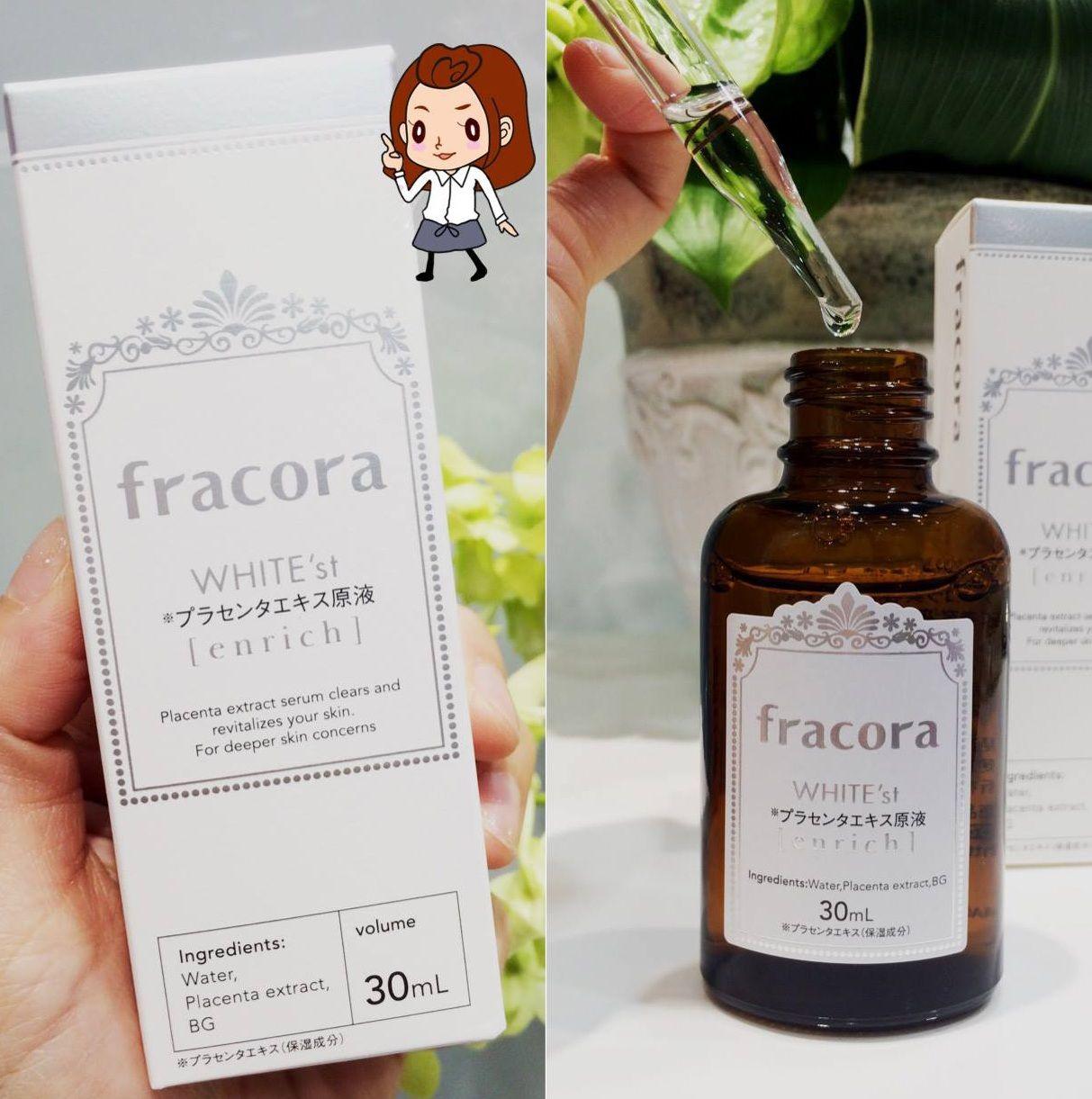 Serum nhau thai Fracora White'st Enrich dưỡng trắng da