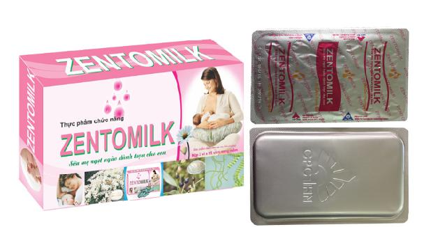 Viên uống lợi sữa Zentomilk tăng tiết sữa, chất lượng sữa