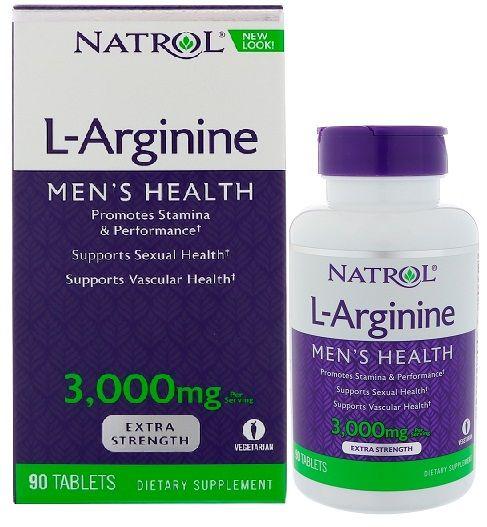 L-Arginine 3000 mg mẫu mới nhất 2018